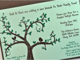 Bridal Shower Money Tree Invitation Wording Gail Family Tree themed Baby Shower by Down2earthpaperworks