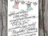 Bridal Shower Poems for Invitations Lingerie Bridal Shower Invitation