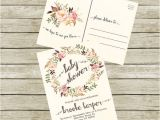 Bridal Shower Postcard Invitations Baby Shower Postcard Invitations Cobypic