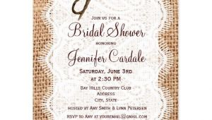 Bridal Shower Postcard Invitations Rustic Burlap Bridal Shower Invitation Postcard