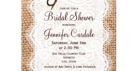 Bridal Shower Postcard Invitations Rustic Burlap Bridal Shower Invitation Postcard