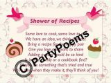 Bridal Shower Rhymes for Invitations Recipe & Pantry themed Bridal Shower Poem Inserts Used
