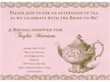 Bridal Shower Tea Party Invitation Wording Invitation Wording for Bridal Shower Tea Party Matik for