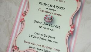 Bridal Shower Tea Party Invitations Etsy Bridal Shower Tea Party Invitations Bridal Shower Tea