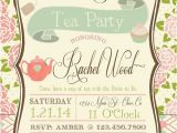 Bridal Shower Tea Party Invitations Etsy Tea Party Bridal Shower Invitation by Rawkonversations On