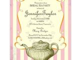 Bridal Shower Tea Party Invitations Etsy Vintage Bridal Tea Party Invitation by Myprettyprintables