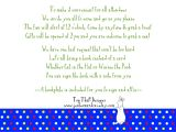 Bridal Shower Wording for Guests Not Invited to Wedding Baby Shower Invitation Poem Open House Wording Back Of