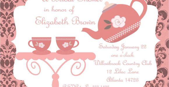 Bridal Tea Party Invitations Free Bridal Shower Tea Party Invitations Bridal Shower Tea