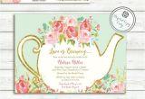 Bridal Tea Party Invitations Free Love is Brewing Bridal Shower Invitation Garden Tea