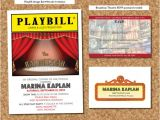 Broadway themed Party Invitations Be the Star Of Your Broadway themed Mitzvah Party Jew
