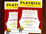 Broadway themed Party Invitations Broadway Invitation Broadway Birthday Invitation Broadway