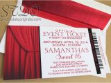Broadway themed Party Invitations Save the Date originals Sweet 16 Broadway Invitations