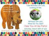 Brown Bear Brown Bear Birthday Party Invitations Brown Bear Birthday Party Invitation by Cutecreationsshoppe