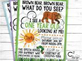 Brown Bear Brown Bear Birthday Party Invitations Brown Bear Brown Bear Birthday Invitation