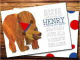 Brown Bear Brown Bear Birthday Party Invitations Brown Bear Brown Bear Birthday Party Invitation Brown Bear