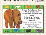 Brown Bear Brown Bear Birthday Party Invitations Brown Bear Brown Bear Invitation Available In 4×6 or