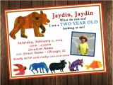 Brown Bear Brown Bear Birthday Party Invitations Brown Bear Brown Bear What Do You See Birthday Invitation