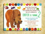 Brown Bear Brown Bear Birthday Party Invitations Brown Bear Invitation Brown Bear Brown Bear Birthday Party