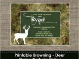 Browning Wedding Invitations Browning Camo Deer Invitation Diy Printable by Sparklingstudio