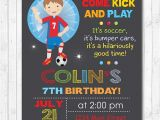 Bubble soccer Party Invitations Bubble soccer Birthday Invitation Bubble soccer Invite