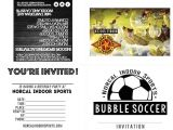 Bubble soccer Party Invitations norcal Indoor Sports Parties