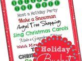 Bucket List Party Invitations Free Christmas Bucket List Printable