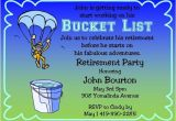 Bucket List Party Invitations Items Similar to Retirement Party Invitations Bucket List
