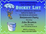 Bucket List Party Invitations Items Similar to Retirement Party Invitations Bucket List