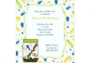 Bug Party Invitation Template Bug Jar Birthday Party Invite with Insects