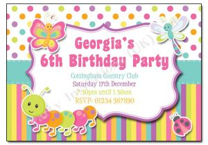 Bug Party Invitation Template Bugs & butterfly Children S Party Invitation