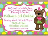 Build A Bear Party Invitations Printable Free Printable Build A Bear Birthday Invitations Drevio