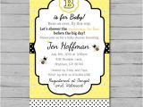 Bumble Bee Baby Shower Invitation Diy Printable Bumble Bee Baby Shower Invitation Diy Custom Printable