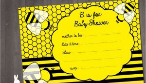 Bumble Bee Baby Shower Invitation Diy Printable Bumblebee Baby Shower Invitations