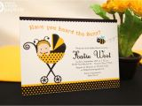 Bumble Bee Baby Shower Invitation Diy Printable Diy Printable Invitation Card Bumble Bee Baby Shower