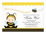 "Bumble Bee Baby Shower Invites Bumble Bee Baby Shower Invitation 5"" X 7"" Invitation Card"