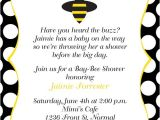 Bumble Bee Baby Shower Invites Bumble Bee Baby Shower Invitation