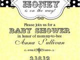 Bumble Bee Baby Shower Invites Bumble Bee Baby Shower Invitations Digital or Printable File