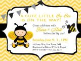 Bumble Bee themed Baby Shower Invitations Bee Baby Shower Invitation Bumble Bee Baby Shower Invite
