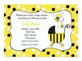Bumble Bee themed Baby Shower Invitations Bumble Bee Baby Shower Invitations