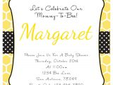 Bumblebee Baby Shower Invitations Bumble Bee Baby Shower Invitation