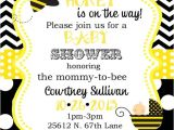 Bumblebee Baby Shower Invitations Bumble Bee Baby Shower Invitations Digital or Printable File