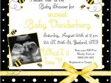 Bumblebee Baby Shower Invitations Bumblebee Baby Shower Invitation Buzz Bees Yellow Fun