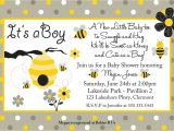 Bumblebee Baby Shower Invitations Template Bumble Bee Baby Shower Invitations