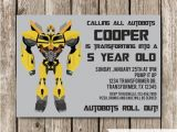 Bumblebee Transformer Birthday Invitations Bumblebee Transformers Birthday Invitation Transformers
