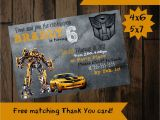Bumblebee Transformer Birthday Invitations Transformer Invitation Bumblebee Invitation Bumblebee