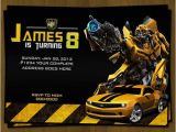 Bumblebee Transformer Birthday Invitations Transformers Birthday Invitation Bumblebee by