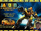 Bumblebee Transformer Birthday Invitations Transformers Birthday Invitations Ideas – Bagvania Free