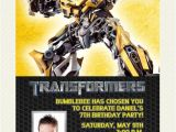 Bumblebee Transformer Birthday Invitations Transformers Bumblebee Birthday Invitation Design