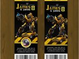 Bumblebee Transformer Birthday Invitations Transformers Bumblebee Ticket Birthday Invite · Splashbox