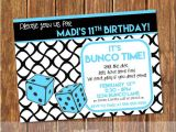 Bunco Birthday Party Invitations Bunco Birthday Party Invitation Bunco Invite Bunco